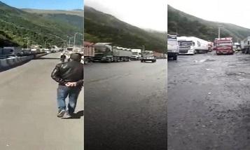 По какой причине армянские грузовики застряли на российско-грузинской границе?